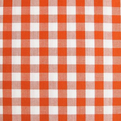 Image de Coupon 15 x  160 cm : Tissu bio vichy orange sanguine