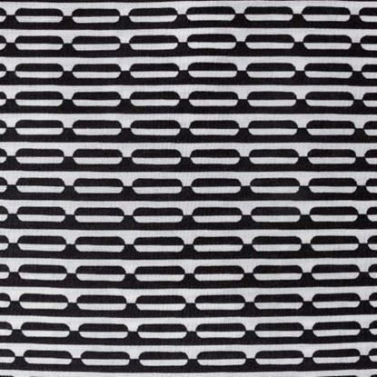 Image de Coupon 140 x 140 cm : Satin de coton bio Black & White